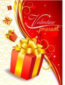 Valentines aanwezig — Stockvector