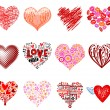 Vector hearts — Stock Vector #61557571