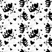 Seamless pattern with cupids. — Cтоковый вектор