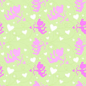 Seamless pattern with cupids. — Vecteur