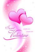 Valentine background wiht hearts — Vettoriale Stock