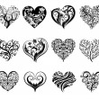 Tattoo hearts. — Stock Vector #61857943