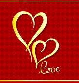 Golden hearts. — Stock Vector