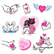 Valentine icons — Stock Vector #61911229