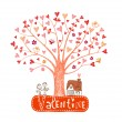 Valentine tree — Stock Vector #61911245
