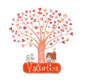 Valentine tree — Stock Vector