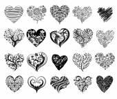 Tattoo hearts. — Stock Vector