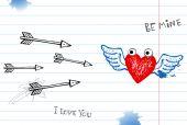 Valentine doodles — Stock Vector