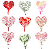 Trees in the form of heart. — Stock Vector