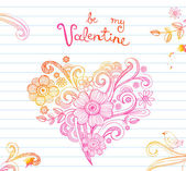 Sketchy Doodle Heart — Stock Vector