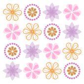 Set of ornate flowers. — Stock Vector