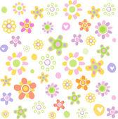 Bonito ornamento floral — Vetor de Stock