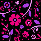 Stylish black and pink pattern — Stock Vector
