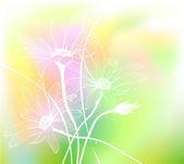 Watercolor flowers. — Stock Vector