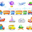 Types of transport — Stock Vector #63150481