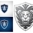 Lion on a Shield — Stock Vector #63150647