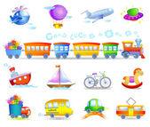 Soorten vervoer — Stockvector