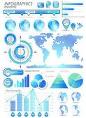 Global infographic vector illustration. — Stock Vector