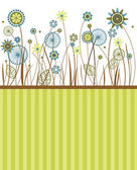 Beautiful flowers, greeting card — Stock Vector