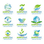 Eco Design Elements, — Vector de stock