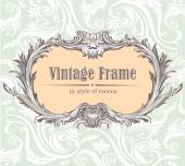 Vintage decorative vector frame — Stock Vector