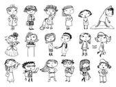 Women characters. — Stock Vector