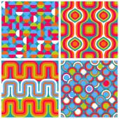 Set of seamless retro patterns. — Stock Vector