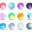 Spheres icons. — Stock Vector #65351431