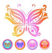 Vector design of butterfly — Stock Vector