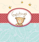 Greeting card — Stock Vector