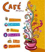 Coffee theme Background. — Stock Vector