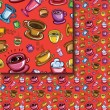 Seamless coffee cups pattern — Stock Vector #67989323