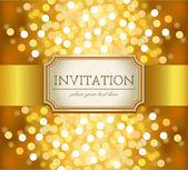 Golden invitation — Stock Vector