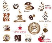 Coffee and Tea design elements. — Stock Vector