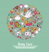 Cura del bambino — Vettoriale Stock