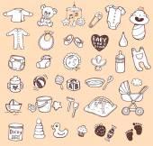 Infant Icon set — Stock Vector