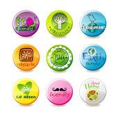 玻璃生态徽章 — 图库矢量图片