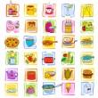 Meal and ware doodle set — Stock Vector #77000859