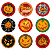 Hallooween Vector drink coasters — Stock Vector