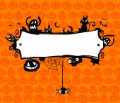 Rama wektor Halloween. — Wektor stockowy