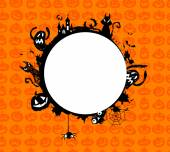 Halloween vector frame. — Stock Vector