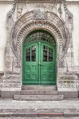 Green Door Art Nouveau — Stock Photo