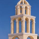 Santorini Oia Church Peach Bell Tower — Stock Photo #58432713