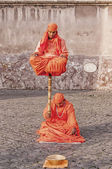 Indian Fakir Street Performers — Stock Photo