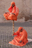 Street Performers in Rome — Stock Photo
