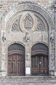 Sankt Johannes Kyrkas Main Entrance — Stock Photo