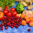 Fruit and vegetables in French garden — Stock Photo #52101685