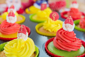 Sinterklaas cupcakes — Stock Photo