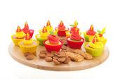 Sinterklaas cupcakes — Stock Photo