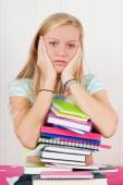 Too many homework — Stock Photo